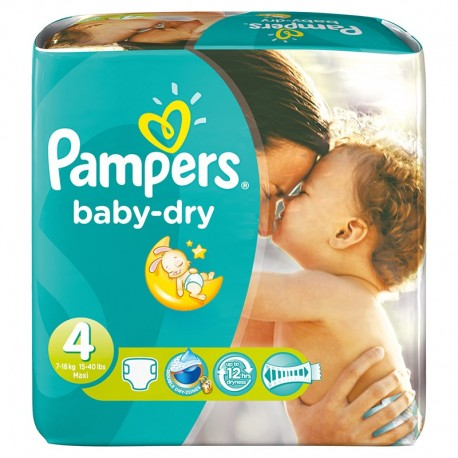 45 Couches Pampers Baby Dry Taille 4 A Petit Prix Sur Couches Center
