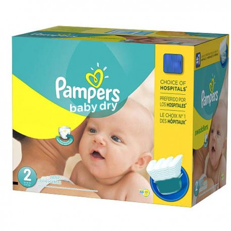 420 Couches Pampers Baby Dry Taille 2 En Promotion Sur Couches Center