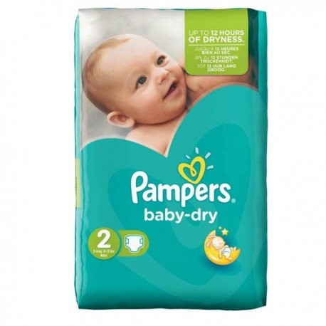 44 couches pampers baby dry taille 2 en solde sur couches center - Couche baby dry taille 3 ...