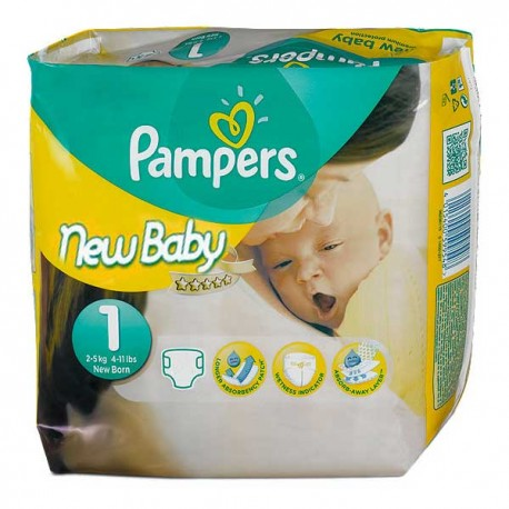 301 Couches Pampers New Baby Dry Taille 1 Moins Cher Sur Couches Center