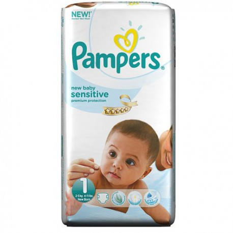 230 couches pampers new baby sensitive taille 1 en solde sur couches center - Couches pampers taille 1 ...