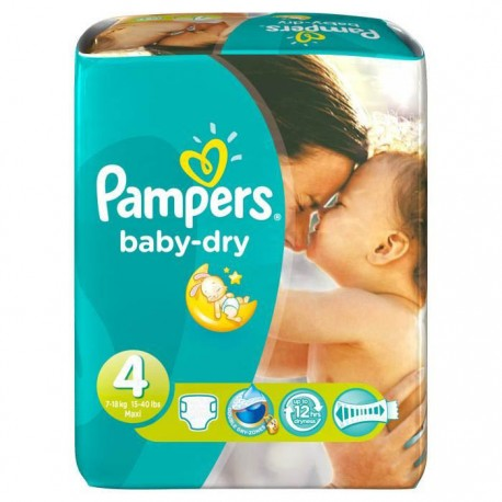 62 couches pampers baby dry taille 4 en promotion sur couches center - Couche pampers baby dry taille 4 ...