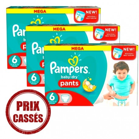 105 Couches Pampers Baby Dry Pants Taille 6 Pas Cher Sur Couches Center