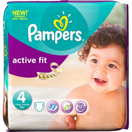 54 Couches Pampers Active Fit Taille 4 Pas Cher Sur Couches Center