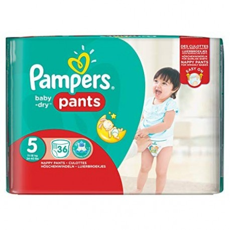 36 Couches Pampers Baby Dry Pants Taille 5 En Solde Sur Couches Center